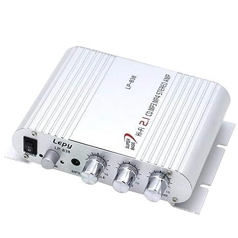 Cacys-Store - Mini Car 3 Channel Amplifier Stereo Mega Bass