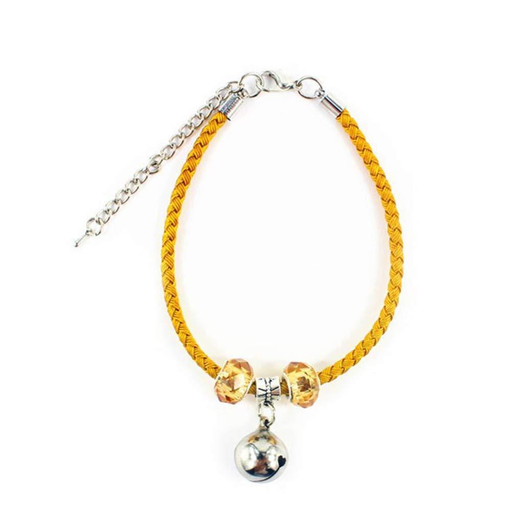 liquidazione Dixinla collare campana di rame in in in pelle corda corda cane gatto strap 27  0.4cm D  ordina ora i prezzi più bassi