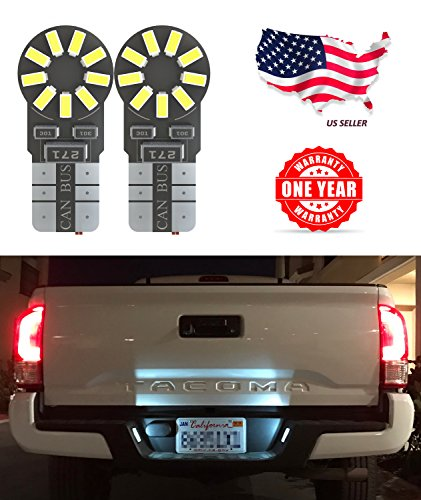 LED Monster 2 x 168 194 T10 5SMD LED Bulbs Car License Plate Lights Lamp White 12V (1) (18 SMD)