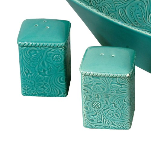 Savannah Turquoise Salt & Pepper Shakers