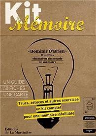 Kit mémoire : Un guide, 50 fiches, une carte par Dominic O'Brien