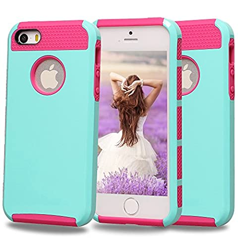 iPhone 5S Case,iPhone 5 Case,Moment Dextrad Non-Slip [Perfect Fit] Hard Plastic + Rubber Silicone [Slim Fit] Dual-Layer Protective Cover Only for Apple iPhone 5/5S (Iphone 5s Cute Case Otterbox)