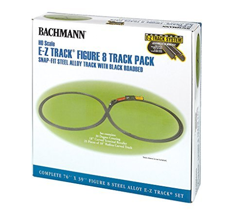 Bachmann Industries Steel Alloy E-Z Track Figure 8 Track Pack (HO Scale)