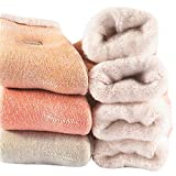 Womens Super Thick Winter Socks - Soft Warm Heavy Knit Thermal Cotton Boot Crew Socks(Pack of 3),Multicolor,Free Size 5-11