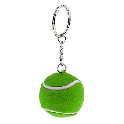 1 Pedazo de Llavero Creativo de Pelota de Tenis Colores ...