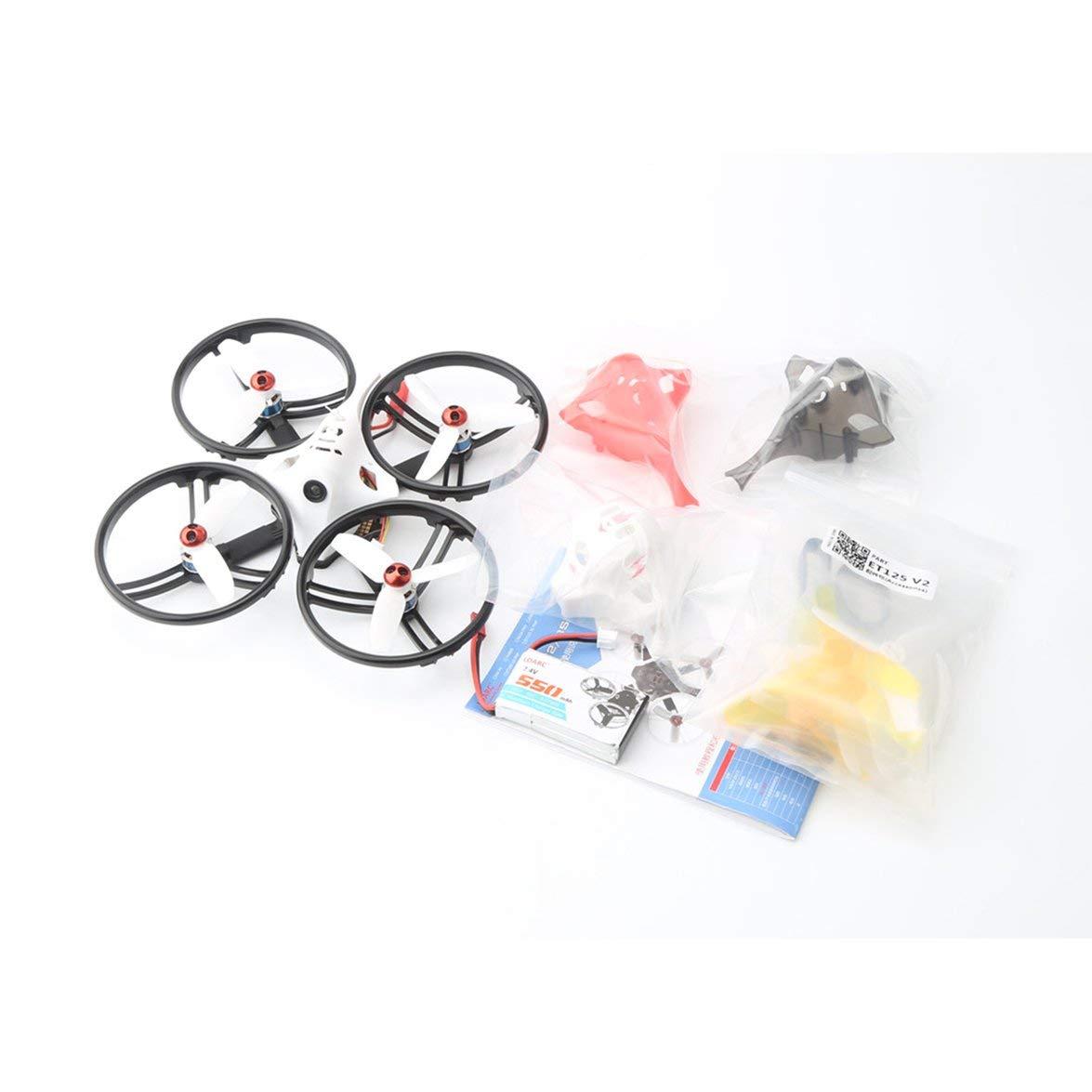 Kongqiabona LDARC ET125 V2 5.8G Micro Mini Brushless FPV RC Racing Drohne Quadcopter mit 16CH VTX Kamera OSD FM800 Empfänger PNP-Version