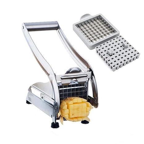Stainless Steel 2 Blades French Fry Cutter Potato Vegetable Slicer Chopper Dicer