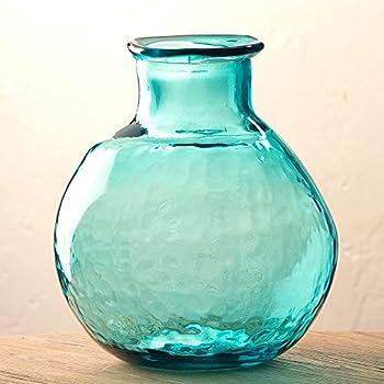 multi glass aquatic viz aqua color dots bellacor htm th cobalt with vases art vase blue passion and