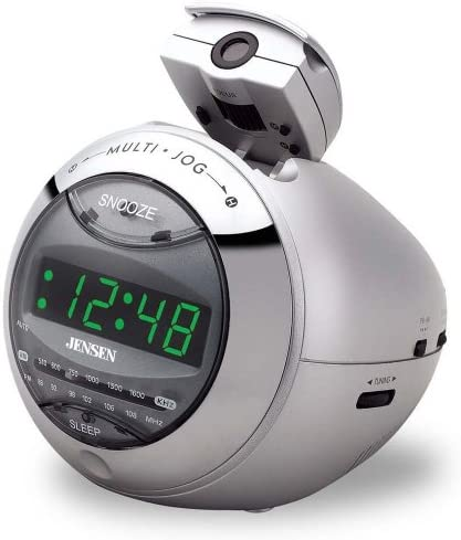Jensen JCR220 Clock Radio with Time Projection