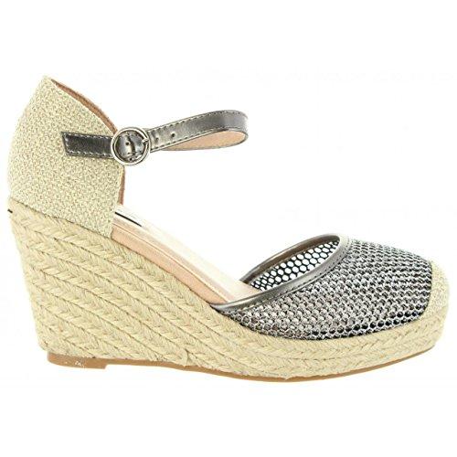 CHIKA10 Nadia Cuña Mujer Plateado Plata 05 Zapatos de de XqIwIHP
