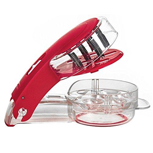 Agile-shop Kitchen Gadget Stainless Steel Zigzag Blades Cherry Pitter - 6 Cherries
