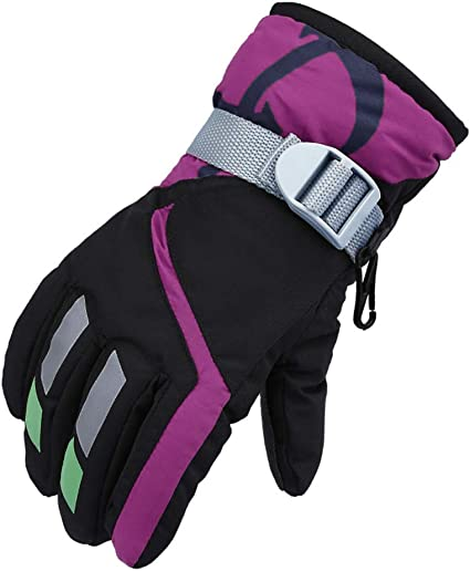 TRIWONDER Ski Gloves for Kids Windproof Snowboard Winter Warm Gloves Thermal Fleece Snow Gloves for Boys Girls