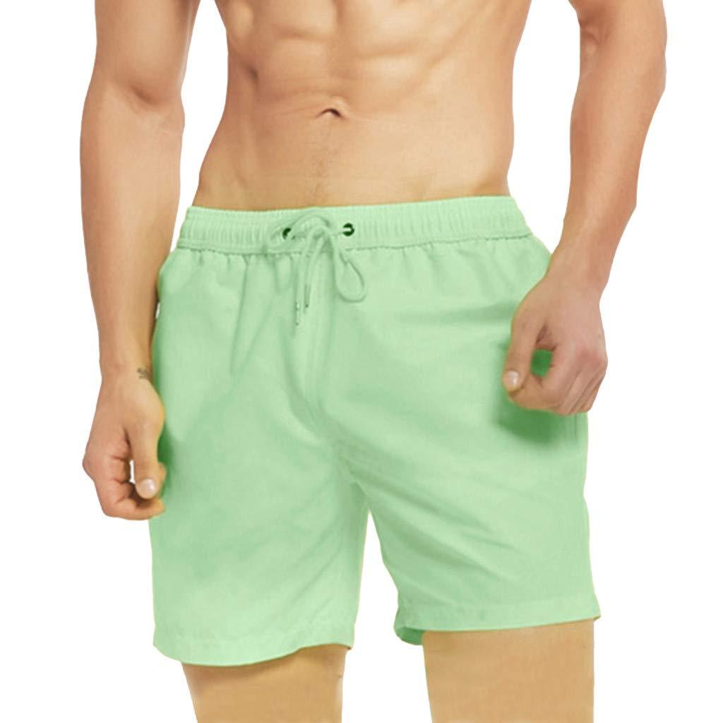 Seaintheson Men's Summer Temperature-Sensitive Color Changing Beach Pants Swim Trunks