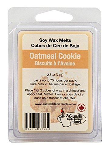 Granville Island empresa natural de cera de soja aromática, 2,5 oz, galletas