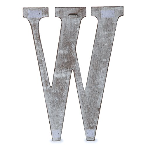 The Lucky Clover Trading W Wood Block Letter, 24'' L, Charcoal Grey