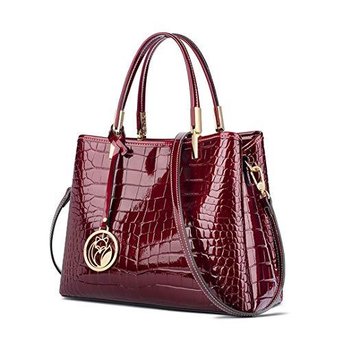 Women Handbags Purse Lady Split Leather Shoulder Bag Crocodile Pattern Messenger Bag 986048F1S