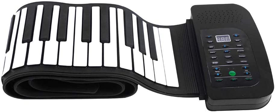 88 Teclas Teclado Piano   Piano Enrollable Con Pedal De ...
