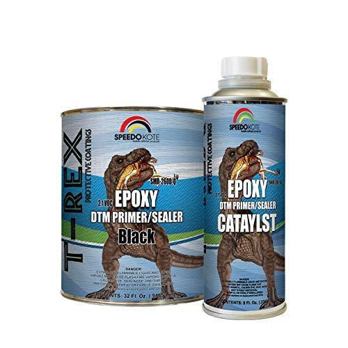 Speedokote Epoxy Fast Dry 2.1 Low voc DTM Primer & Sealer Black Quart Kit, SMR-260B-Q/261-8