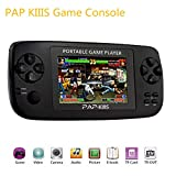 Huntmic 3.5inch Portable Handheld Game Console,64BIT PAP KIIIS Games Perfectly support Arcade Game/GBA/SFC/SNES/SEGA/FC/NES games and MP3 Music Player Camera