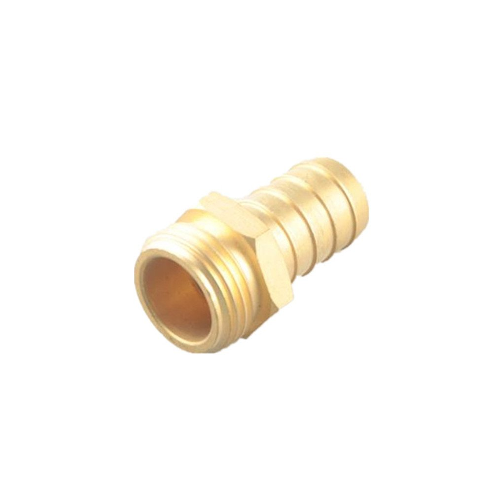 Brass Hose Barb Fitting Coupler//Connector 1 Male Barb To 1 NPT Pipe Male Thread