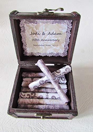 Wood Anniversary Gift, 5th Anniversary Gift, Wife Anniversary, Husband Anniversary, Love Scroll Box, Love Quotes, Wife Gift, Birthday Gift (Birthday Scroll)