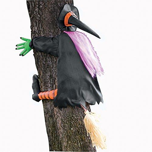 Betty Bash Crashing Witch Into Tree Halloween -