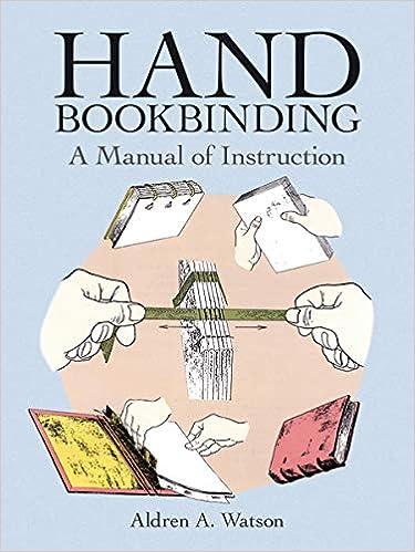 Hand Bookbinding A Manual Of Instruction Watson Aldren A 8601234580997 Books