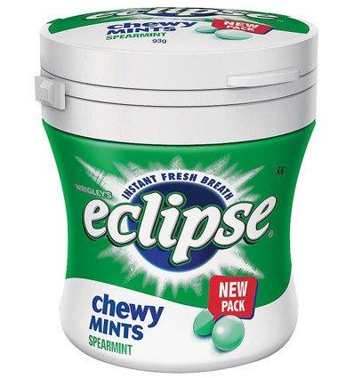 Eclipse Chewy Spearmint Bottle 93g x 6