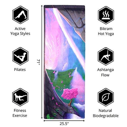 Eco Natural Yoga Mat Towel Combo: Luxury Sweat-Grip Mat/Towel