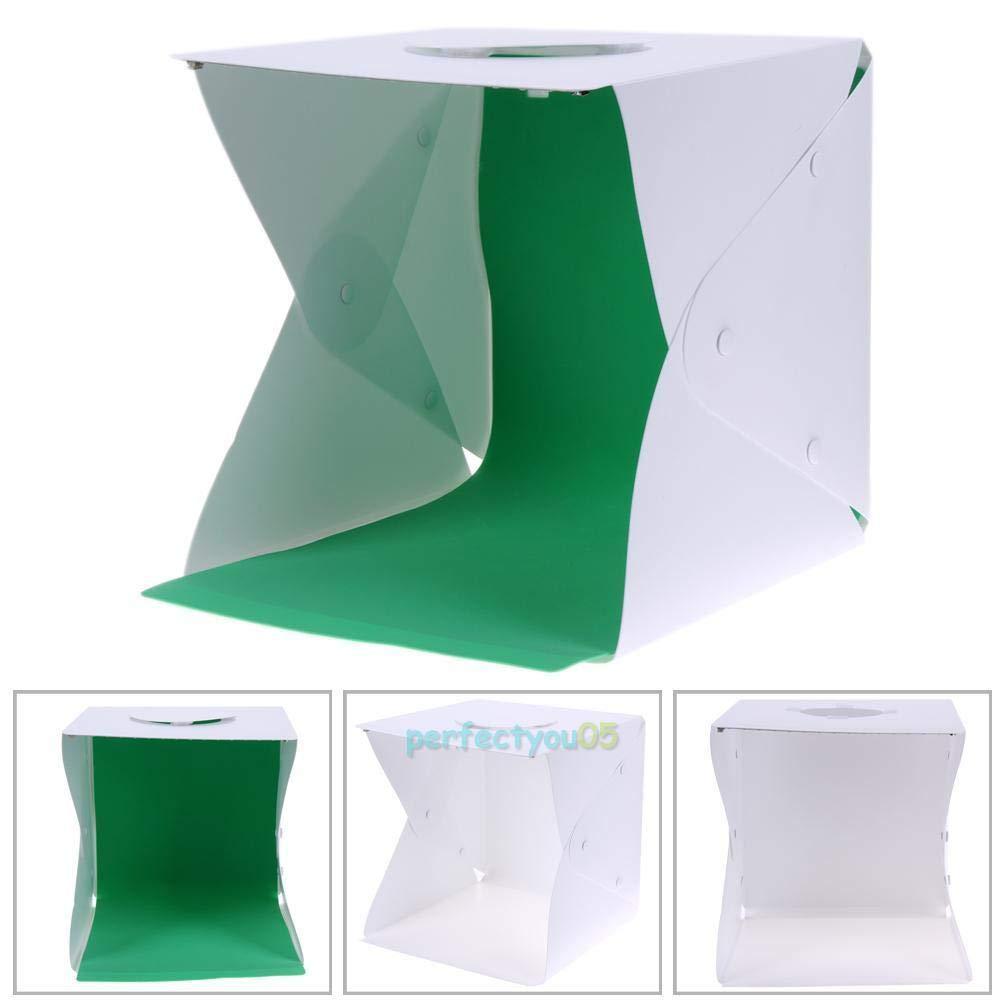 FidgetFidget ライトフォトボックス ポータブルミニフォトスタジオ 写真撮影用背景 30x30cm   B07H96Q9GR