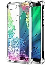 Oihxse Cristal Compatible con Xiaomi Mi CC9/Xiaomi Mi 9LITE Funda Transparente TPU Silicona Estuche Airbag Esquinas Anti-Choque Anti Rasguños Diseño Rosa Flower Caso (Flores B7)