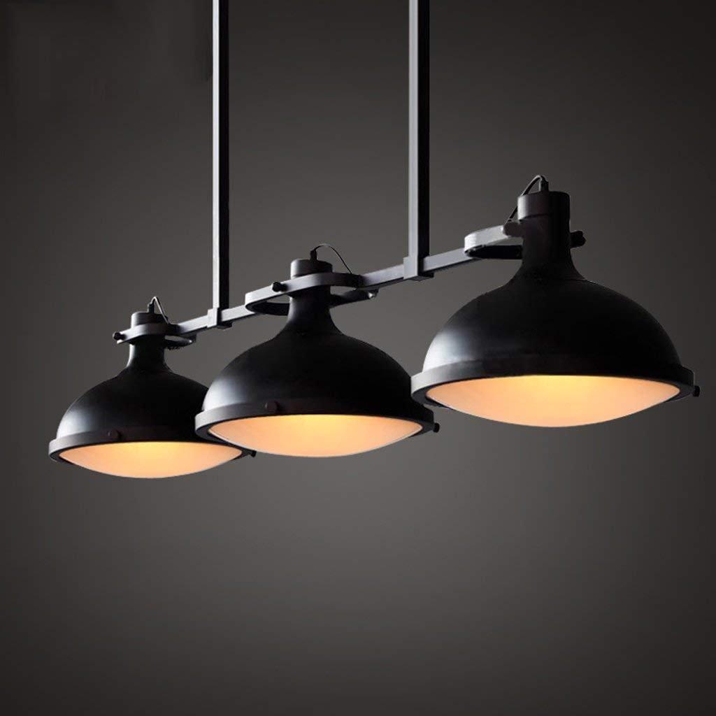 LIL Loft industriel cr/éatif trois lustre billard table restaurant r/étro bar comptoir campagne am/éricaine pastorale A+