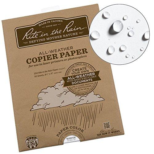 Rite in the Rain Weatherproof Laser Printer Paper, 8 1/2