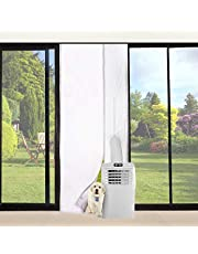 "FUNTECK Screen Door Seal for Portable Air Conditioner, Fits Door Size up to 34""x82"" Max"