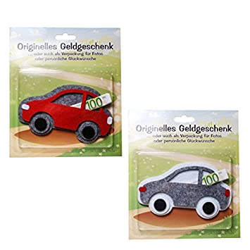 LOLLIPOP® 1 Stück \'Auto\' originelles Geldgeschenk, Filz ...