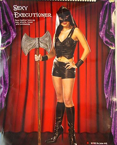 Cinema Secrets Sexy Executioner Adult Costume 4-6 NIP -