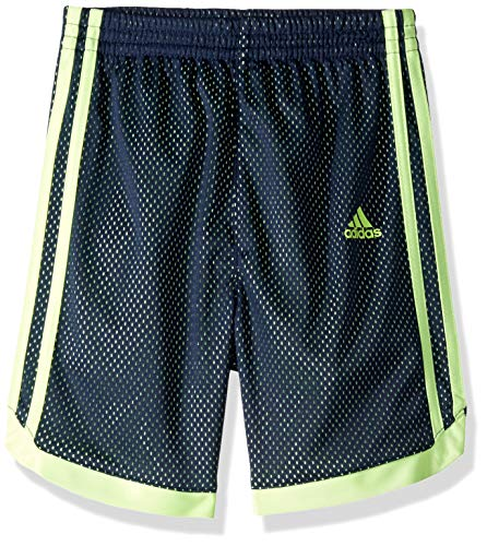 Adidas Boys' Toddler Athletic Basketball Short, Impact Navy/Yellow, 3T
