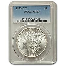 1893 CC Morgan Dollar MS-63 PCGS $1 MS-63 PCGS