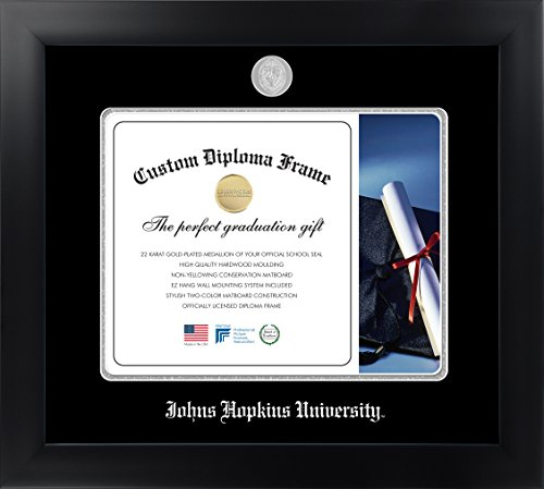 Johns Hopkins University 14 x 17 Matte Black Finish Infinity Diploma Frame by Celebration Frames