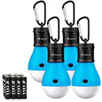 Camping Tent Lantern Bulb Lights - 4 Pack Multi Color -...