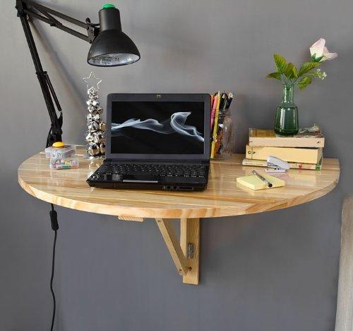 Leaf Wall (SoBuy Wood Wall-mounted Drop-leaf Table, Balcony table,Folding Dining Table, Desk, 31.5inchx 20.4inchx 15.7inch,)