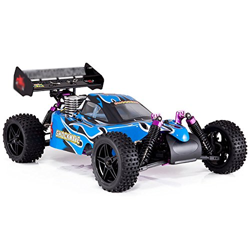 Nitro Gas Powered Buggy - WALLER PAA Racing Shockwave 1/10 Scale Nitro Engine 4x4 RC Remote Control Buggy