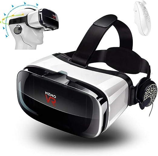 Mengen88 Gafas VR, Gafas portátiles AR 3D con Auriculares y Asas ...