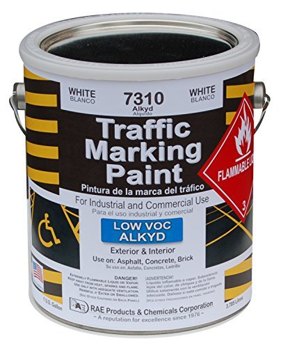 rae-7310-white-alkyd-traffic-zone-marking-paint-professional-grade-road-parking-lot-paint-for-stenci