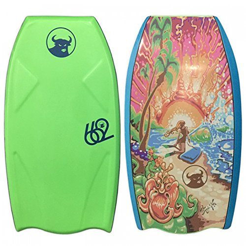 662 Drew Brophy Beauty & The Beach Bodyboard, Lime Green/Graphic Art by 662