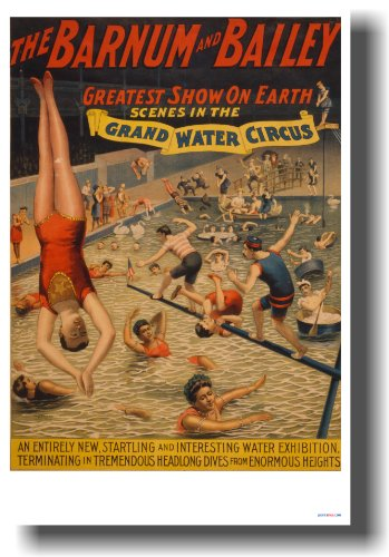 Barnum & Bailey - Greatest Show on Earth - Vintage Reproduction Circus Poster