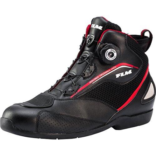 FLM Motorradschuhe, Motorradschnürstiefel kurz, Knöchelprotektoren, atmungsaktive Innensohle, Schaltverstärkung…
