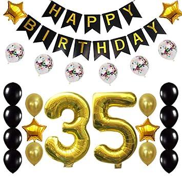Amazon.com: Decoración de 35º cumpleaños suministros de ...