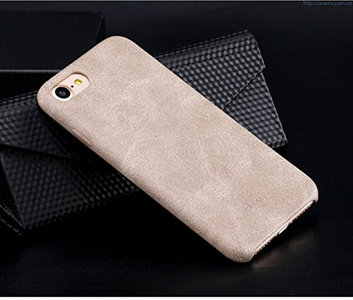 USAMS BOB Series Soft PU Leather Back Case Cover for Apple iPhone SE  2020  / iPhone 8 / iPhone 7   Cream