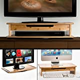 Prosumer's Choice Three-In-One Bamboo DVD/TV/Monitor Stand with Swiveling Base and Pull-out Drawer